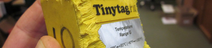 Tinytag temperature data logger for monitoring tree planting and growing conditions