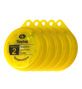 New Tinytag Transit 2 TG-4080-X5 multipack, 5 pack of yellow TG-4080 data loggers