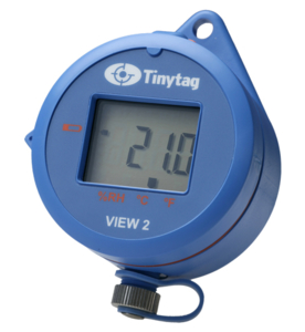 Blue data logger with display, Tinytag View 2