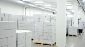 Temperature monitoring in a pharmaceutical warehouse