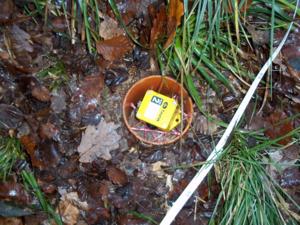 Tinytag data logger temperature monitoring in a soil pipe