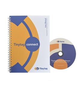Tinytag Explorer Connect software CD and manual