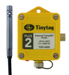 TGP-4505 Tinytag Plus 2 external temp/rh probe data logger - top view