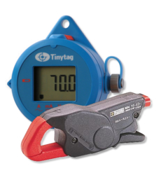 Tinytag View 2 data logger with digital display and chauvin arnoux current clamp