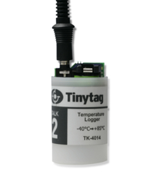 TK-4014 Tinytag Talk 2 temperature data logger with USB cable attached