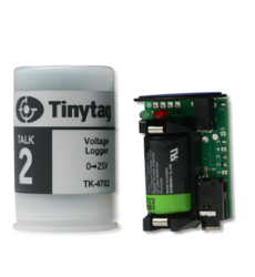 TK-4702 Tinytag Talk 2 voltage input data logger with 35mm film canister case